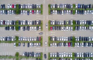 Parking lot aerial view